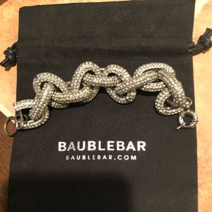 Bauble Bar chain link pavé bracelet
